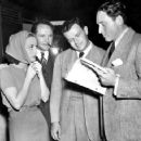 Spencer Tracy and Joan Crawford going over the script with Joseph L. Mankiewicz  & Frank Borzage on the set of Mannequin (1937) - 454 x 358