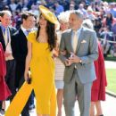 George Clooney and Amal Alamuddin :  Prince Harry Marries Ms. Meghan Markle - Windsor Castle - 435 x 600