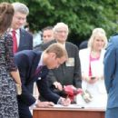 Prince William and Kate Middleton at the National War Memorial