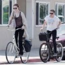 Evan Rachel Wood and Jamie Bell enjoying a bike ride together in Los Angeles, CA (July 21)