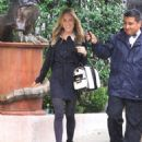 Kristin Cavallari braves the rain while running errands on January 23, 2012 in Beverly Hills