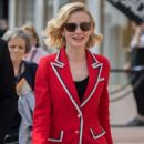 Carey Mulligan in Red Suit out in Cannes - 454 x 681