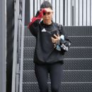 Kourtney Kardashian and Larsa Pippen out in Calabasas