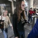 Keira Knightley – Arriving at LAX Airport in Los Angeles