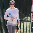 Jessica Biel Dog Walking In Hollywood, April 6 2010