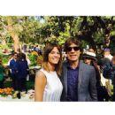 Liz Solari, Mick Jagger & Victoria Pearman at DVF's pre-Oscar bash in Beverly Hills, California on 21 Feb 2015 - 454 x 454