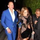Jennifer Lopez in Black Mini Dress at Her Birthday Party in Miami