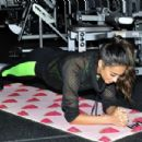 Shay Mitchell hit the SoFit gym at the Sofitel in Los Angeles