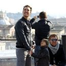 Matthew McConaughey and his wife, Camila Alves take their two oldest children, Levi and Vida, along as they go sightseeing while vacationing in the Italian capital