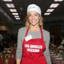 Tricia Helfer – Christmas Celebration On Skid Row in Los Angeles - 454 x 663