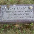 Tony Randall  Grave Stone 2003