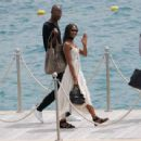 Naomi Campbell Leaves the Eden Roc hotel in Cannes