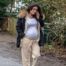 Casey Batchelor – Shows off her growing baby bump spotted out in Hertfordshire - 454 x 592