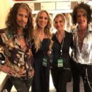 Joe Perry and Billie Montgomery w/ Steven Tyler and Aimee