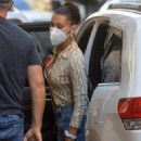 Bella Hadid – Wearing mask in downtown Manhattan – New York