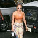 Jennifer Lopez in Sports Bra – Arriving at a dance studio in NYC