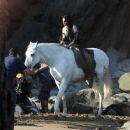 Kristen Stewart  on the Set of Snow White and the Huntsman September 29, 2011