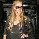 Paris Hilton Arriving At Her Hotel In London