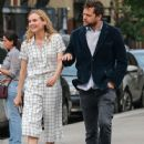 Actress Diane Kruger and Joshua Jackson spotted out for an evening stroll in New York City, New York on June 8, 2015 - 446 x 600