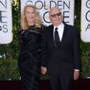 Still going strong! Jerry Hall, 59, hits the Golden Globes red carpet on the arm of 84-year-old Rupert Murdoch - three months after it was revealed they are dating - 11 Jan 2016 - 454 x 683