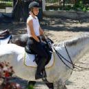 Iggy Azalea goes horseback riding in Los Angeles, California on April 1, 2016