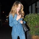 Abbey Clancy in Jeans at the Half Moon pub in London - 454 x 885