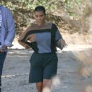 Kourtney Kardashian with Scott Disick and Kanye West – Check out a property in Malibu