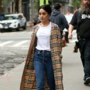 Vanessa Hudgens in a Burberry Trench Coat out in New York City - 454 x 681