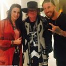 Real Madrid defender Sergio Ramos (right) and partner Pilar Rubio met rock star Axl Rose this week - 454 x 422