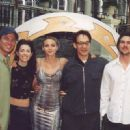 Hudson Leick With some of the Xena cast at the Xena Convention