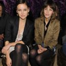 Jessica Stroup was spotted at the Mulberry Fall 2010 Collection runway show in New York City last night (February 16).