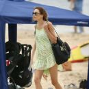 Rebecca Judd in Black Bikini on holiday in Noosa - 454 x 636