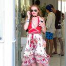 Lindsay Lohan– Out in Mykonos, Greece, 7/5/2016 - 454 x 663