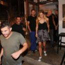 Bar Refaeli Leaving Aria Lounge Bar In Tel Aviv