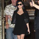 Demi Lovato Leaves Her Hotel