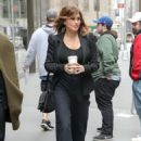 Gina Gershon – Leaving SiriusXM studios in New York