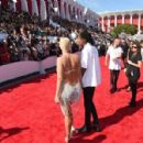 Amber Rose and Wiz Khalifa attend the 2014 MTV Video Music Awards at The Forum in Inglewood, California - August 24, 2014 - 454 x 298