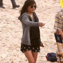 Celebs On The Set Of '90210'