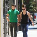 Shia LaBeouf — Out for lunch with his girlfriend Mia Goth in Los Angeles — August 22, 2014 - 454 x 589