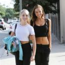 Maddie Ziegler and Alexis Ren – Leaving 'DWTS' at dance studio in LA - 454 x 681
