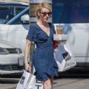 Emma Roberts in Mini Dress at Joan's on Third in Los Angeles