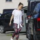 Minka Kelly in Tights hitting the gym in Los Angeles - 454 x 544