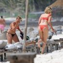 Ashley Tisdale in Red Bikini at a beach in Mexico - 454 x 486