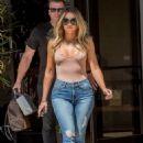 Khloe Kardashian in Jeans on the set at studio in Calabasas - 454 x 681