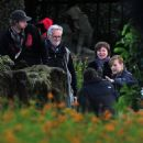 Milla Jovovich And Family On The Set Of 'The Three Musketeers' In Wurzburg