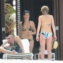 Lindsay Lohan - On The Beach In The Bahamas With Calum Best - 454 x 302