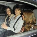 Rolling Stones guitarist Ronnie Wood and his girlfriend Sally Humphreys are seen leaving Scotts restaurant after dining together in Mayfair, London.