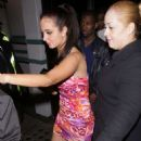 Tulisa Contostavlos – Leaves The Project Club in London