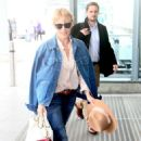 Kylie Minogue in Jeans at terminal 5 departing for New York - 454 x 764
