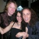 Jeff Pilson and wife Ravinder with Ronnie Dio
